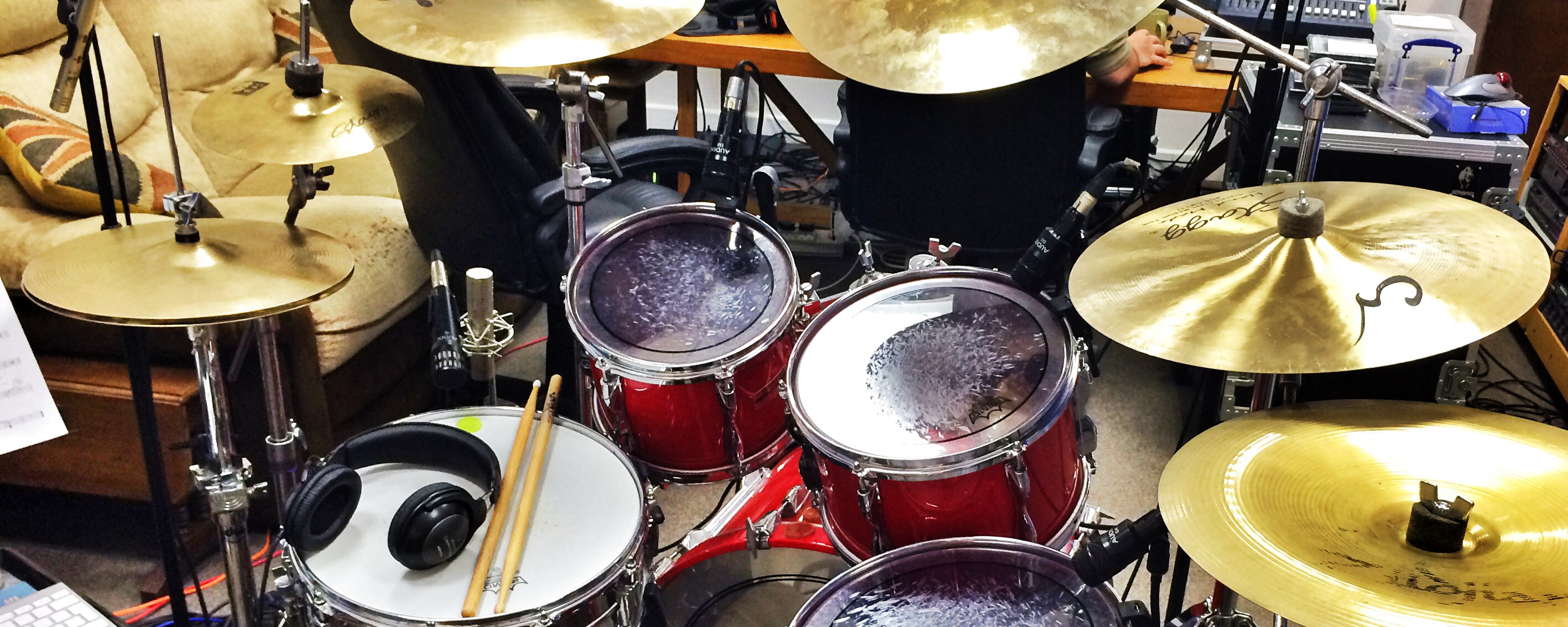 The Drums are nearly done – using a famous drumkit!
